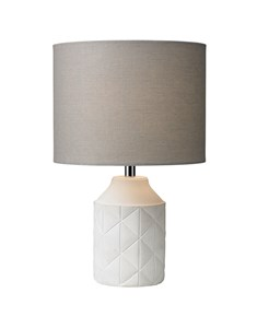 Luca Table Lamp - White | Concrete Detailed Table Lamp