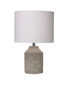 Luca Table Lamp - Grey | Concrete Detailed Table Lamp