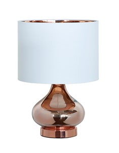 Clarissa Table Lamp - Copper | Metallic Glass Table Lamp