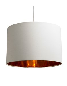 Bjorn Pendant Shade - Cream | Gold Inner Ceiling Shade