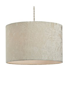 Allura Pendant Shade - Cream | Crushed Velvet Ceiling Shade