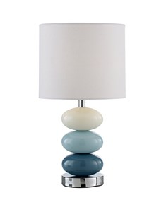 Esme Table Lamp - Denim Blue | Bright Ceramic Pebble Lamp