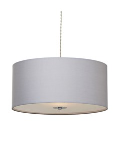 Madaline Pendant Shade - Grey | Chrome | Large Diffuser Ceiling Shade