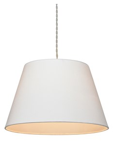 Large Drum Pendant Shade - Ivory | Cotton Lampshade