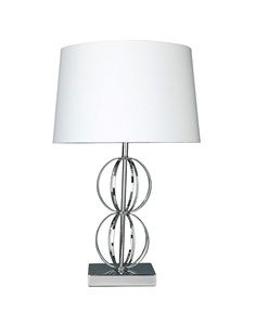 Dexter Table Lamp - Chrome | Structural Metal Table Lamp
