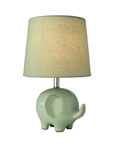 Ellie Elephant Table Lamp - Mint Green | Ceramic Animal Table Lamp