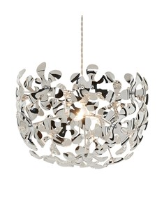Loopal Pendant Shade | Chrome Floral Ceiling Shade