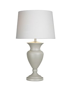 Clarence Table Lamp - French Grey | Turned Metal Table Lamp