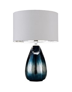 Roxanna Table Lamp | Navy and Silver Table Lamp