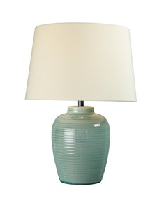 Lume Barrel Table Lamp - Blue | Gloss Ceramic Table Lamp