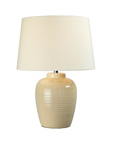 Lume Barrel Table Lamp - Cream | Gloss Ceramic Table Lamp
