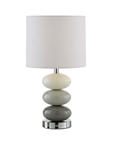 Esme Table Lamp - Grey | Oval Ceramic Pebble Lamp