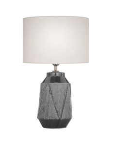Safi Table Lamp Grey | Ceramic Detailed Table Lamp