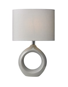 Isla Table Lamp - Soft Grey | Ceramic Soft Table Lamp