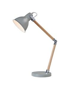 Drake Desk Lamp - Grey | Wooden Desk Lamp