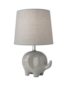 Ellie Elephant Table Lamp - Grey | Ceramic Animal Table Lamp