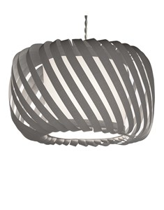 Ribbon Pendant Shade Grey | Fabric Diffuser Ceiling Shade