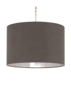 Velvie Pendant Shade Grey | Chrome | Metallic Inner Ceiling Shade
