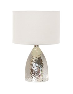 Medina Touch Table Lamp - Chrome | Hammered Metal Table Lamp