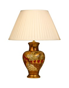 Java Table Lamp Base - Medium | Red Traditional Lamp Base
