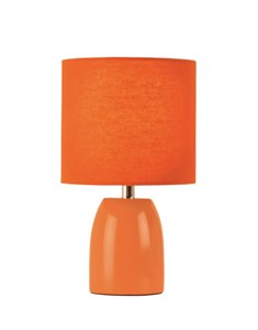 Opal Table Lamp - Burnt Orange | Ceramic Bright Bedside Lamp