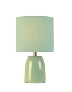 Opal Table Lamp - Aqua Blue | Ceramic Pastel Bedside Lamp