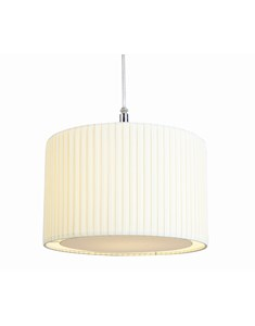 Wilson Pendant Shade - Cream | Pleated Ceiling Shade