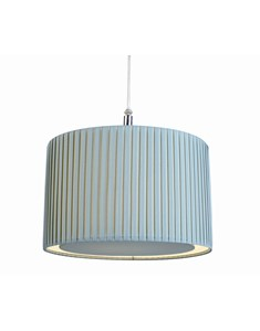 Wilson Pendant Shade - Duck Egg Blue | Pleated Ceiling Shade