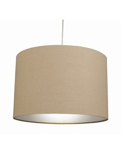 "12"" Raj Cylinder Pendant Shade - Putty Grey 