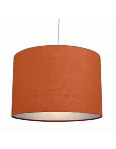 "12"" Raj cylinder Pendant Shade - Burnt Orange 