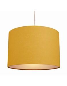 "12"" Raj Cylinder Pendant Shade - Ochre | Bright Yellow Pendant Shade"
