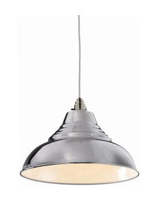 Vintage Pendant Shade - Chrome | Metal Ceiling Shade