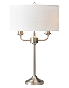 Grantham Table Lamp - Satin Nickel | Classic Multi Light Table Lamp
