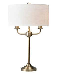 Grantham Table Lamp - Antique Brass | Classic Multi Light Table Lamp