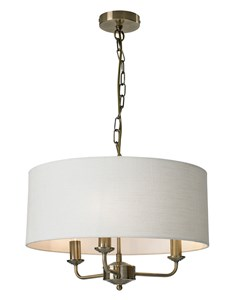 Grantham 3 Light Ceiling Fitting - Antique Brass | Multi Light Fitting