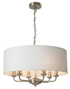 Grantham 6 Light Ceiling Fitting - Satin Nickel | Multi Light Fitting