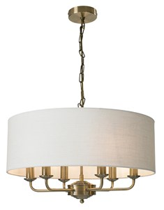 Grantham 6 Light Ceiling Fitting - Antique Brass | Multi Light Fitting