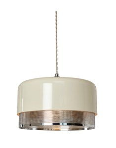 Emilio Large Pendant Shade - Chrome | Metal Ceiling Shade