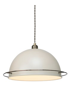 Bauhaus Pendant Shade - Cream | Metal Ceiling Shade