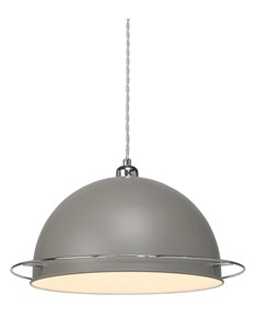 Bauhaus Pendant Shade - Grey | Metal Ceiling Shade