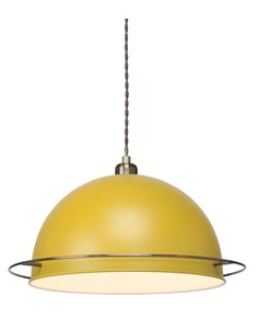Bauhaus Pendant Shade - Ochre | Metal Yellow Ceiling Shade