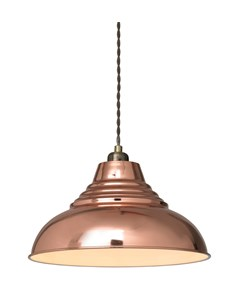 Vintage Pendant Shade - Shiny Copper | Metal Ceiling Shade
