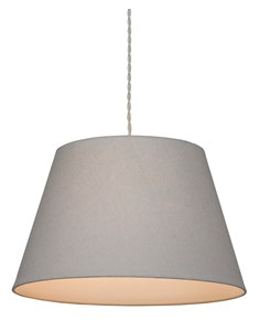 Large Drum Pendant Shade - Grey | Cotton Lampshade