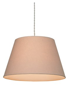 Large Drum Pendant Shade - Taupe | Cotton Lampshade