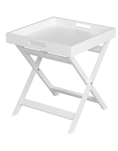Javis Butler Tray - White | Foldable Side Table