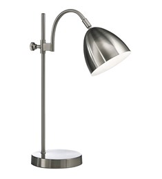 Seb Table Lamp | Brushed Chrome | Adjustable Task Lamp