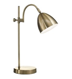 Seb Table Lamp | Antique Brass | Adjustable Task Lamp