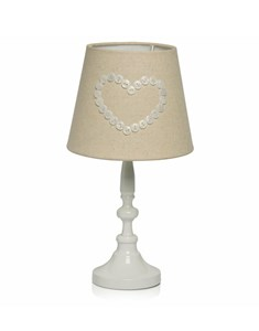 Buttoned Heart Table Lamp