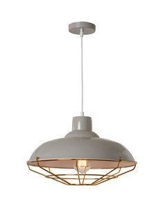 Cobden Fitting - Grey & Copper | Industrial Ceiling Fitting