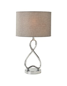 Infinity Table Lamp | Chrome & Grey Table Lamp
